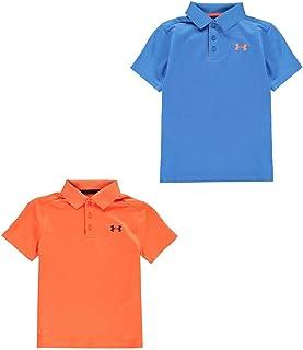 Official Brand Under Armour Performance Polo Shirt Junior Boys Tops T-Shirt Outerwear