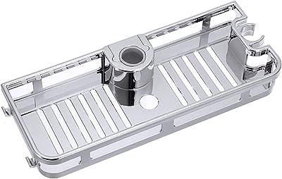 wuxinye バスルームのポールシャワー収納ラックホルダーオーガナイザーバスルーム棚シャンプーシャンプー単層収納シェルフ