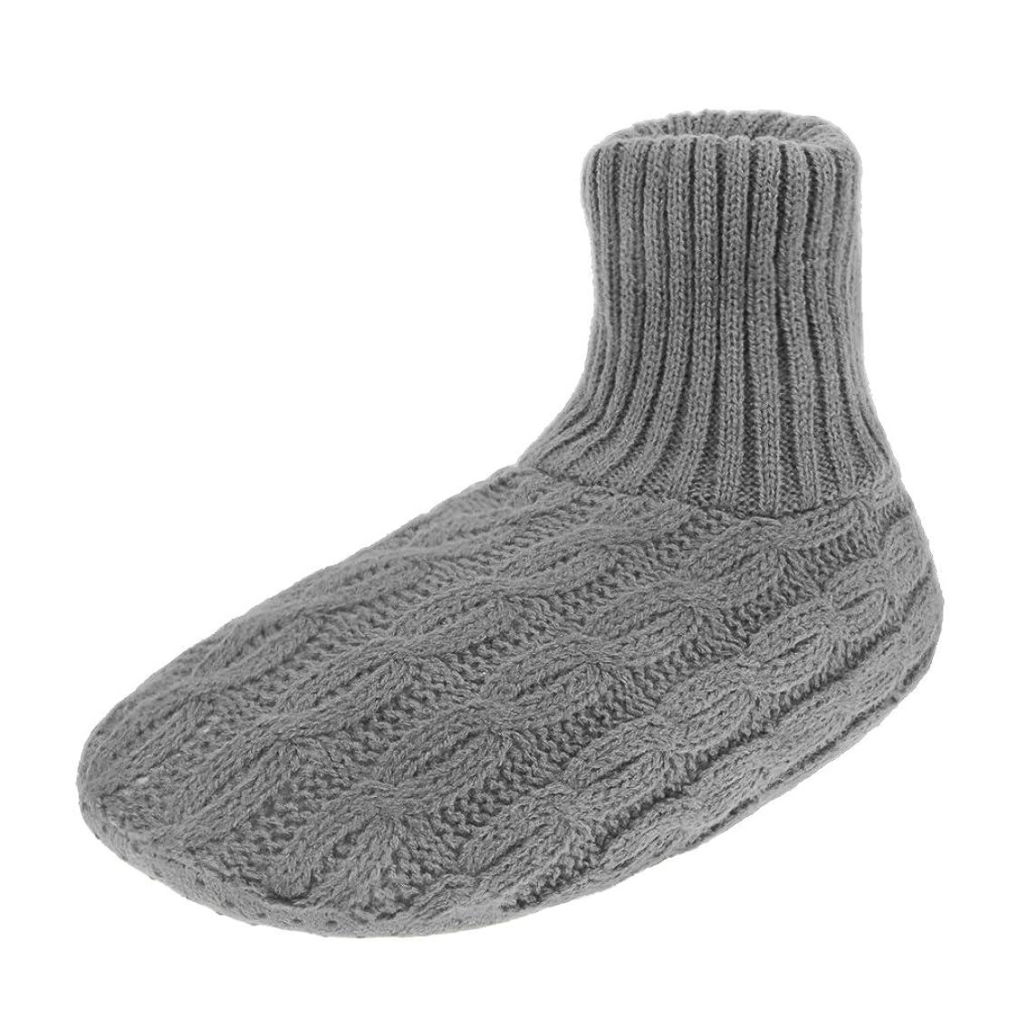 終わりくるくるささやきレディース靴下 ルームソックス 編み物 室内履き 自宅仕事用 ニット 暖かい もこもこ 寒気防止 両足温める 極厚地 柔軟 滑り止めクッション シンプル 冬 ソックス くつした ガールズ 女 女性用 成人 ジュニア 来客用