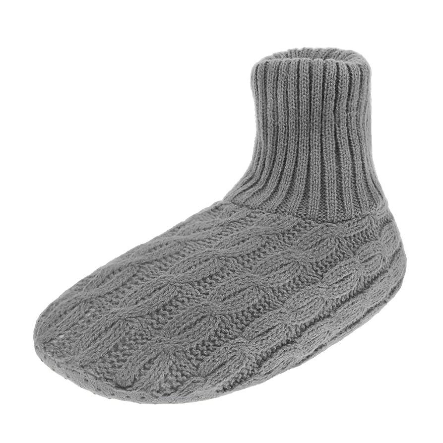 六月郊外オーディションレディース靴下 ルームソックス 編み物 室内履き 自宅仕事用 ニット 暖かい もこもこ 寒気防止 両足温める 極厚地 柔軟 滑り止めクッション シンプル 冬 ソックス くつした ガールズ 女 女性用 成人 ジュニア 来客用