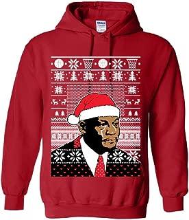 Adult Michael Jordan Crying Meme Ugly christmas Sweater Hoodie Hooded Medium Red