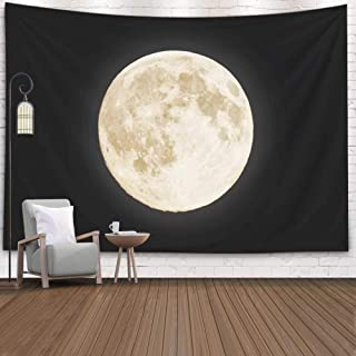 Jacrane Wall Hanging Tapestry, Dorm Tapestry Hang Wall Tapestry 80X60 Inches Moon Largest Also Called Ten Usual Supermoon Aprox Procent Larger Than Art Tapestry for Dorm Bedroom Living Home Decor