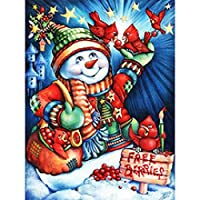 ジグソーパズル大人のための雪だるま鳥パズルアートワーク1000個-カラフルな教育とレジャーのおもちゃ