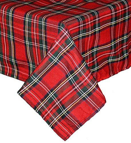 Textildepot24 Mantel a cuadros escoceses, tamaño a elegir, mantel de mesa, servilletas, camino de mesa a cuadros