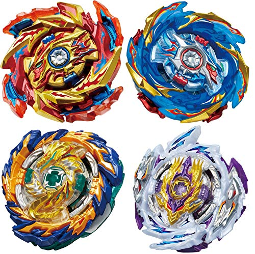 GiGimelon 4 Pcs Gyros Bey Battle Set, Burst Battling Tops with Stickers Set, Boys Kids Party Birthday Idea