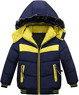 Nevera Toddler Baby Boys Winter Warm Jacket Coat Cotton Padded Thick Outerwear Clothes for 2-4T
