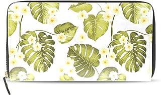 Freesh Banana Leaf Paper Travel Wallet Double Folding Long Wallet Zipper Multi-card Bag Zipper Pocket Leather Zipper Buckle Elegant Clutch Bag Wallet