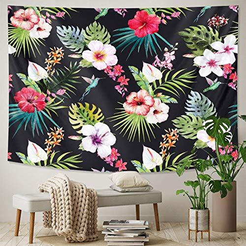 Tapiz de plantas tropicales mandala tapiz de pared tapiz de pared yoga hippie bohemia brujería tapiz de sala de estar A4 150X200CM