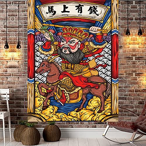 YDyun Tapiz,para Colgar en la Pared,Hecho a Mano,en algodón Puro, Paño de decoración de Dormitorio de Sala de Estar de Dibujos Animados de Tela Colgante