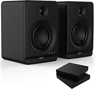 Donner Dyna Series Dyna4 4-Inch High-Definition Active Studio Monitor Speaker Black (Pair) Desktop With Professional 5.0 W...