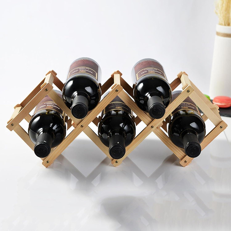 European Solid Wood Wine Rack Creative Wine Ornaments Living Room Display 45  12  16cm (17.7  4.7  6.2 inch) (color   Smoked Black)