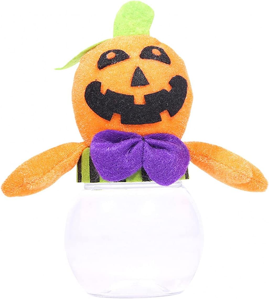 ROKTUD Manufacturer regenerated product Halloween Courier shipping free Plastic Pumpkin Candy Pump Cookie Jar with