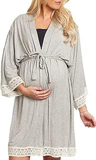 Mujer Embarazadas Camisones Mangas 3/4 V-Cuello con Encaje