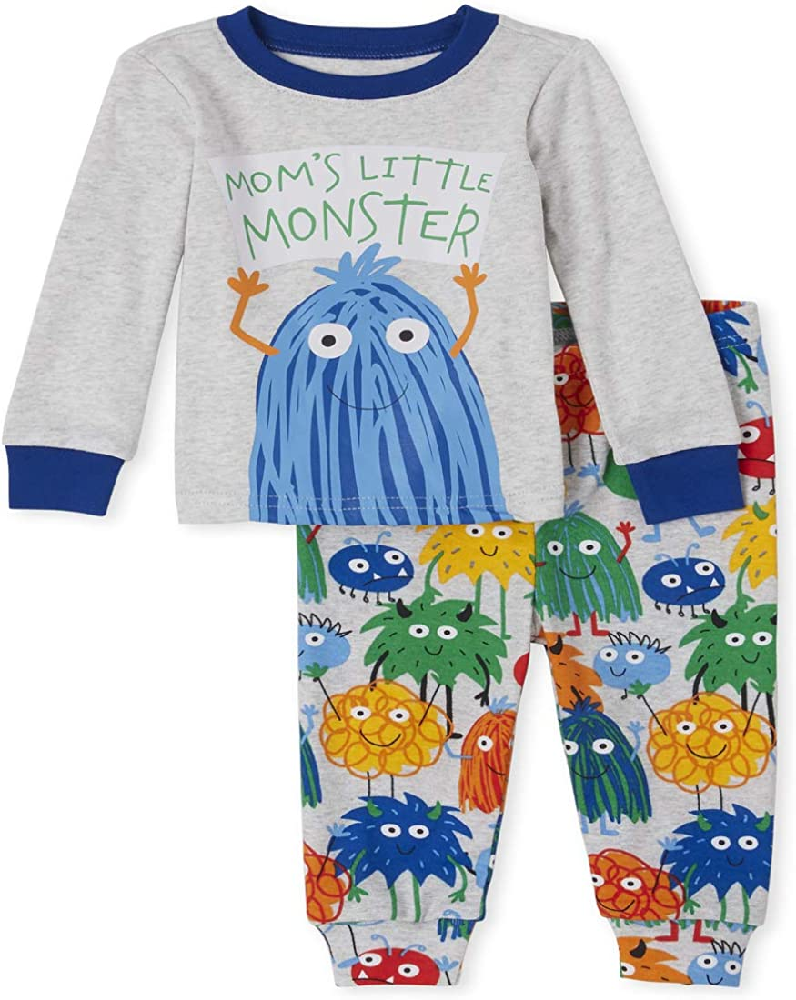 The Children's Place Baby Boys Novelty Printed Pants Pajama Set