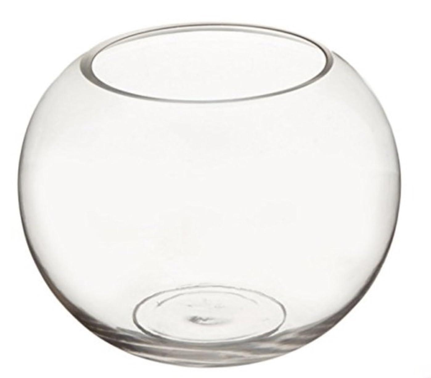 薬を飲む手がかり追うガラス 容器 テーブル ボウル 金魚鉢 大 おしゃれ インテリア オブジェ アクアリウム テラリウム 花瓶 (15cm)