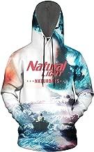 FUEWJFDIW 3D Printed Galaxy Fleece Hooded Sweatshirt for Men's Natural-Light-Beer-Naturdays- Sweaters