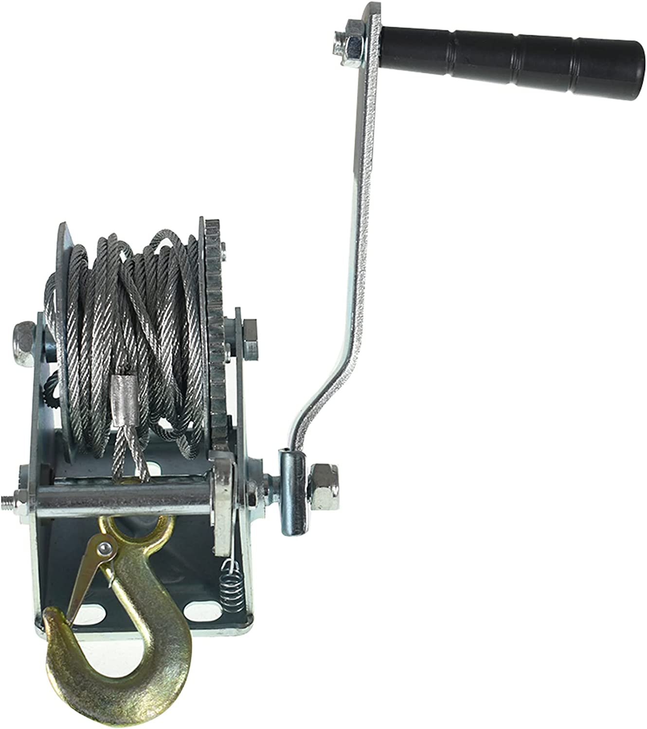 Courier shipping free ALL-CARB 800lbs Hand Crank Winch with Hook Trailer NEW wi Boat