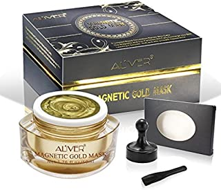 ALIVER Magnetic Gold Mask Mineral-Rich Face Mask Pore Cleansing Removes Skin Impurities with Iron Based Skin Revitalising Age-Defier Magnetic Mask for men and women (1.76 fl. oz/ 50 ML)