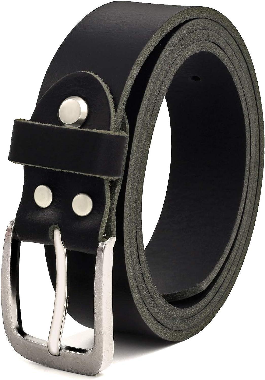 Negro Cinturón Cuero Búfalo, 30 mm De Ancho y aprox. 3-4 mm De Grueso, Puede Acortarse #GSw300801