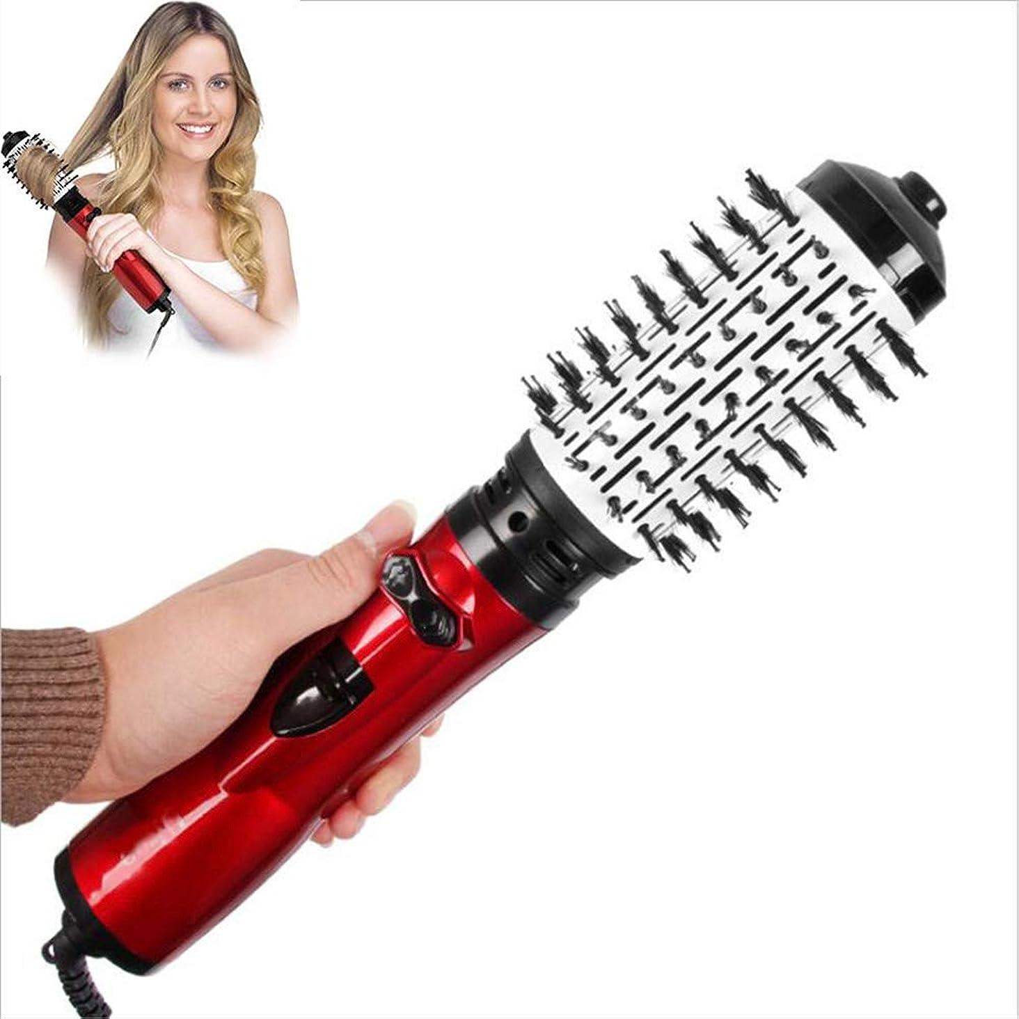 干渉する芽反逆者1つのステップヘアドライヤー電気ヘアドライヤーブラシで3 1つの乾いた髪カーリーヘアストレートヘア反火傷防止360度回転に適したすべての髪