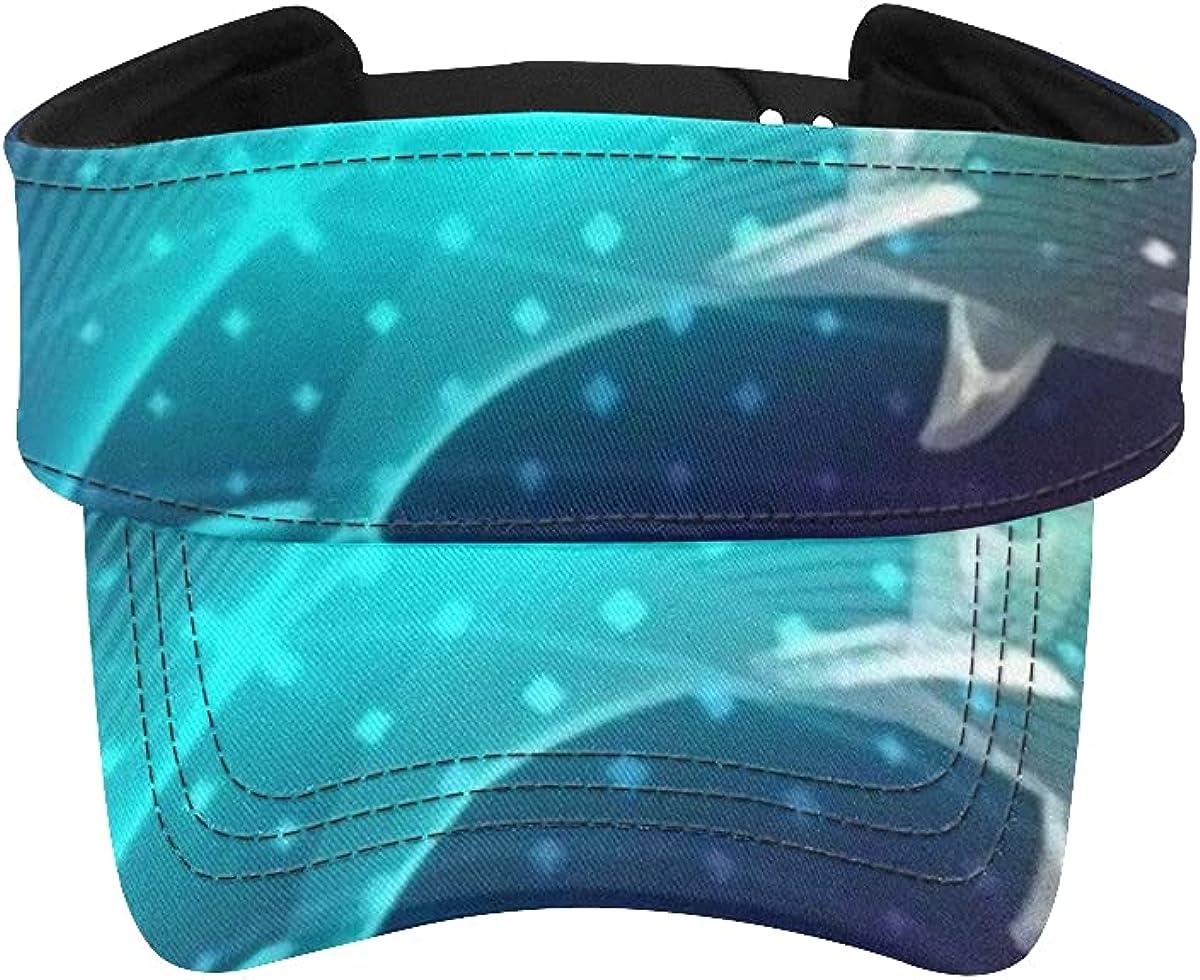 Sun Visor supreme Fashionable Hat Blue Dolphins Animal Marine Digital V Composed