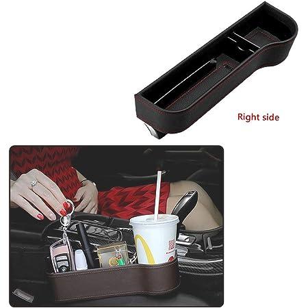 Lieikic Auto Organizer Aufbewahrungsbox Multifunktionale Aufbewahrungs Schlitz Box Autositz Gap Ablagefach Für Auto Sitz Schwarz Auto