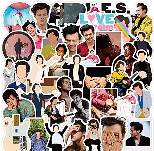 100 Pcs HARR_y Style_s Stickers, Britain Famous Singer Waterproof Vinyl Trendy Cool Sticker Packs, Merch for Skateboard/Guitar/Laptop, Decal Stickers Suitable Gifts for Kids and Teens