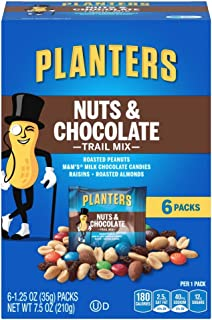Planters Nuts & Chocolate M&M's (1.25oz Bags, Pack of 6)