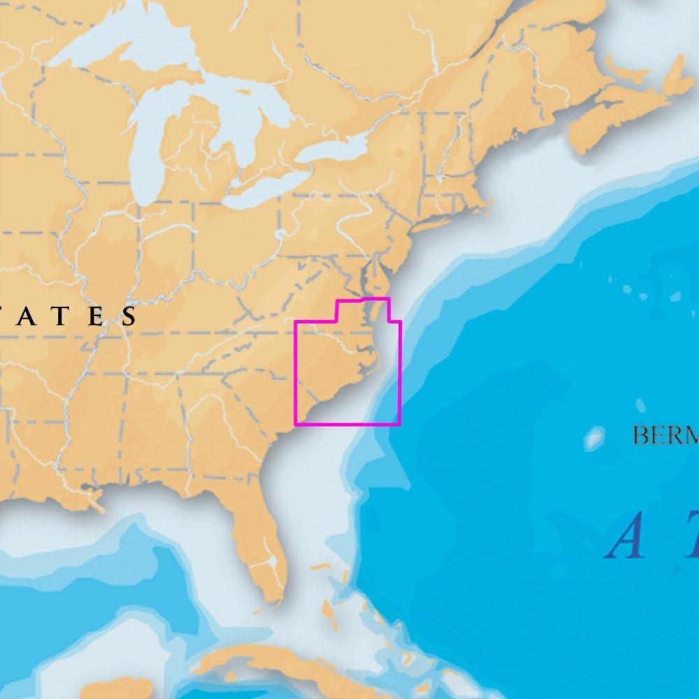 Navionics Platinum Plus 645P+ North Carolina Marine Charts on SD/MSD, Beige