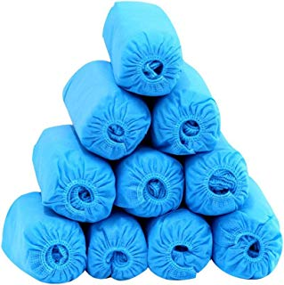 Disposable Shoe Covers - Hygienic Boot Cover for Medical, Construction, Workplace, Indoor Carpet Floor Protection, [Durable, Anti-Slip] - One Size Fits Most 100-Pack(50pairs, blue)