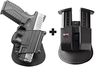 Fobus SP-11B Paddle Right Hand Conceal Concealed Carry Holster Taurus PT609, Millennium Pro PT145, PT111 Millennium Pro, PT 24/7 / Bull Cherokee + 6909 ND Double Magazine Pouch