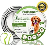 ProHomer Collares Antiparasitario para Perros Impermeable, 8 Meses de...