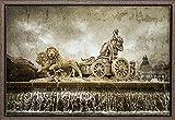 TEXFOTO Cuadro Enmarcado - Fuente de Cibeles en Madrid- Fotografía artística y Moderna Listo para Colgar - Hecho a Mano en España (40_x_60_cm)