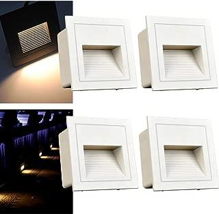 Set 10 LED LAMPADE Pavimento Suolo Faretto da INCASSO PER INTERNO ESTERNO TERRAZZO GIARDINO BLU