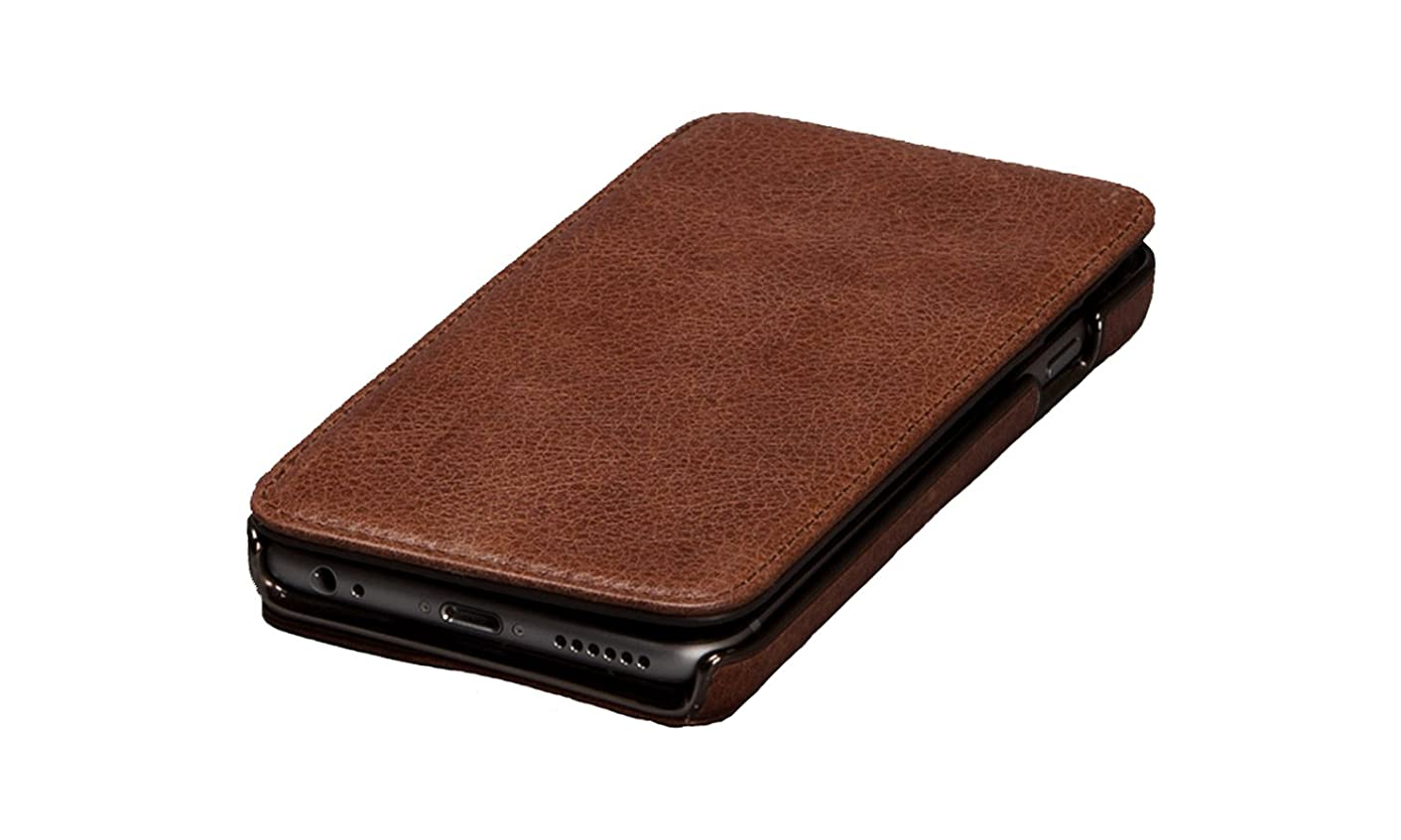 Sena Genuine Leather Heritage Wallet Book Case for Iphone 6/6S (4.7-inch Version) (Cognac)
