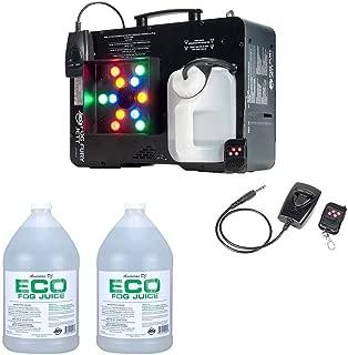 ADJ Fog Fury Jett Smoke Machine & LED Lights + Eco-Fog Juice Fluid, 2 Gallons