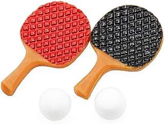 6217619f505d2 Odoria 1:12 Miniature 2 Raquettes de Ping Pong avec 2 Balles Décoration de  Maison