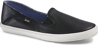 Keds Women's Crashback Leather Fashion Sneaker,New Black,9 M US