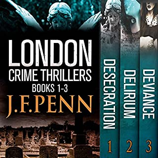 London Crime Thriller Boxset     Desecration, Delirium, Deviance              By:                                                                                                                                 J.F. Penn                               Narrated by:                                                                                                                                 Rosalind Ashford                      Length: 22 hrs and 12 mins     7 ratings     Overall 3.9