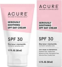 ACURE Seriously Soothing SPF 30 Day Cream   100% Vegan   For Dry to Sensitive Skin   Blue tansy & Niacinamide - Soothes & Provides Sunscreen   1.7 Fl Oz