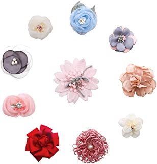 Flower Hair Clips Set-Cherrboll 10pcs Floral Hair Bow Accessories for Baby Girl Toddles Teen Gifts