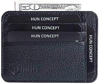 محفظة جلدية نحيفة من RFID Blocking - محفظة حامل بطاقات الائتمان للرجال والنساء
