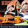 Saferell Instant Read Meat Thermometer for Cooking, Fast & Precise Digital Food Thermometer with Backlight, Magnet, Calibration, and Foldable Probe for Deep Fry, BBQ, Grill, and Roast Turkey/Black #2