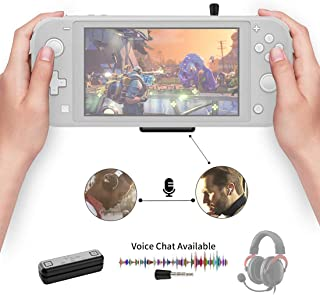 NS07 Pro Bluetooth Adapter Compatible for Nintendo Switch & Lite, PS4/PC, Support in-Game Voice Chat w/APTX Low Latency Wi...