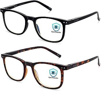 2-Pack Aosm Blue Light Blocking Reading Glasses for Anti Eyestrain