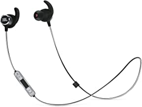 JBL Reflect Mini 2.0 – In-Ear Wireless Sport Headphone with 3-Button Mic/Remote – Black