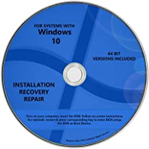 Windows 10 Pro & Home Install Reinstall Restore Upgrade Repair Recovery 64 bit x64 WNYPC (R) Full System Multipurpose Backup Utility Installation Repair CD Drive Disc DVD Disk