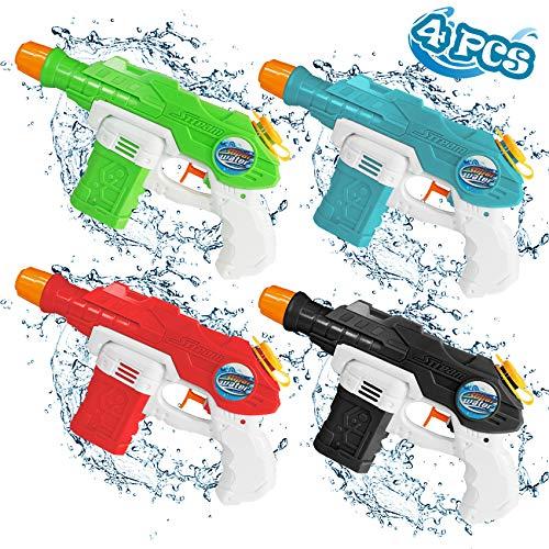 Juguete Pistola De Agua NiñOs,Pistola PequeñA,para Al Aire Libre, Piscina, Fiesta,Chorro Verano Juguetes Juego NiñOs Adultos(4pcs)