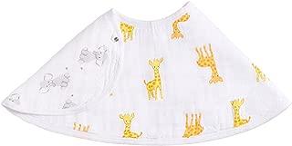 aden + anais Burpy 围嘴,* 纯棉平纹细布,柔软吸收 4 层,多用途围嘴和围嘴,57.15 cm X 27.94 cm,单面 safari babes - giraff/elephant 均码