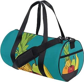 Duffel Bag Cartoon Bowl Of Fruit Women Garment Gym Tote Bag Best Sports Bag for Boys
